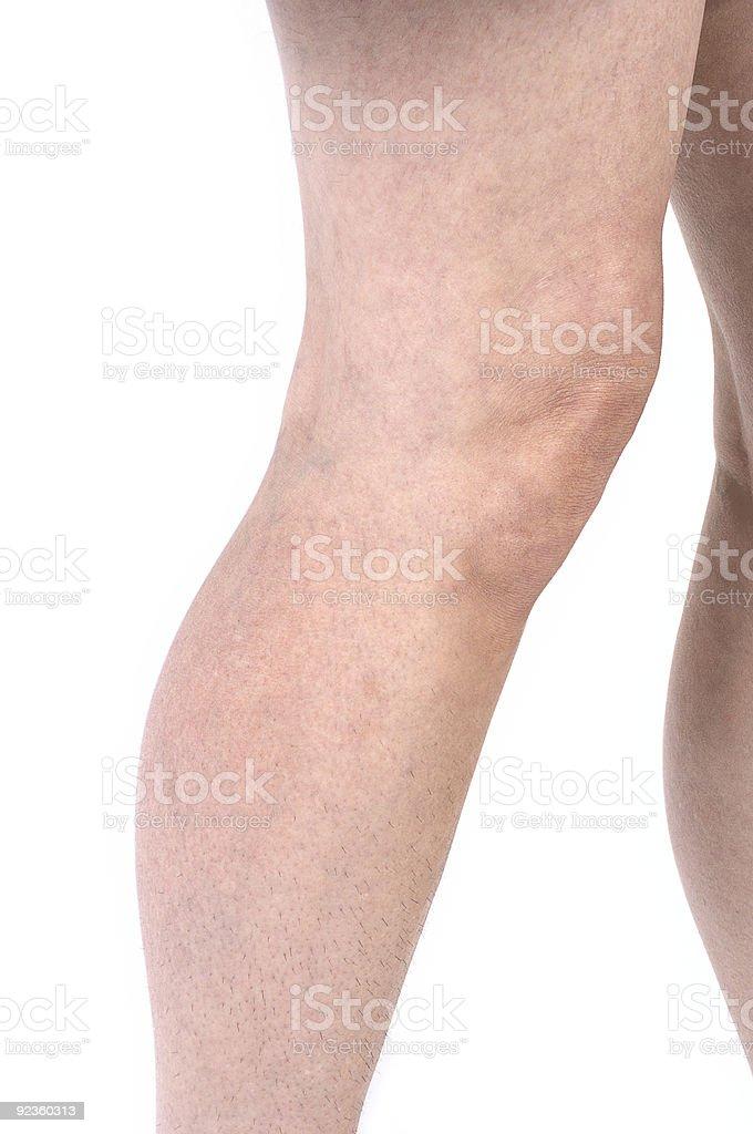 Unshaved Leg Hair 1 royalty-free stock photo