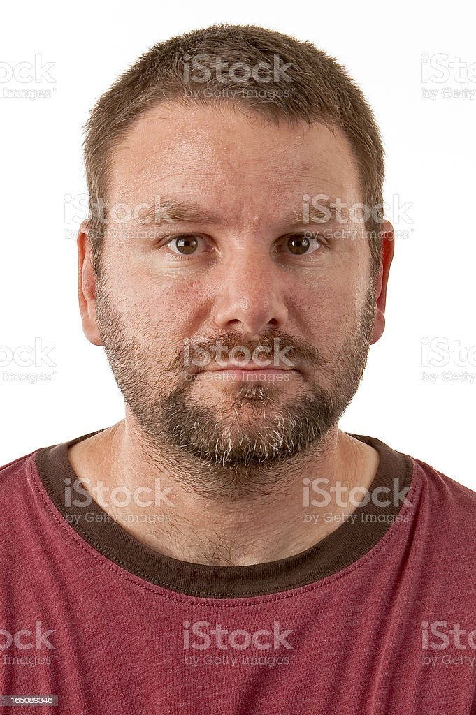 Unshaven caucasian male royalty-free stock photo