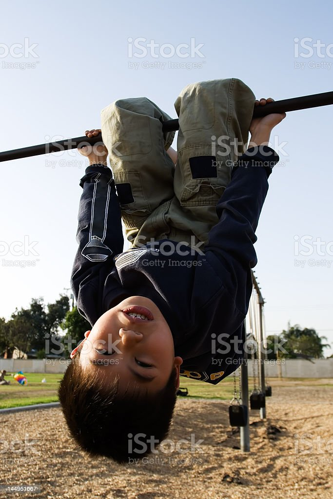 Unside down kid royalty-free stock photo