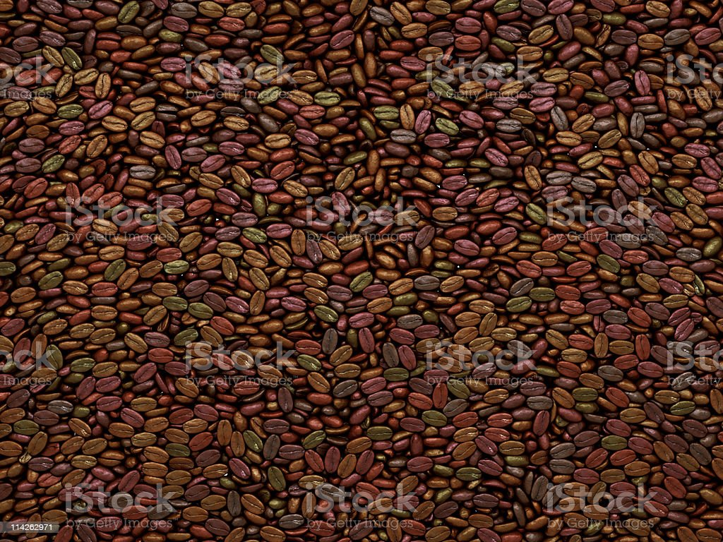 Unsorted Coffee beans texture or background stock photo