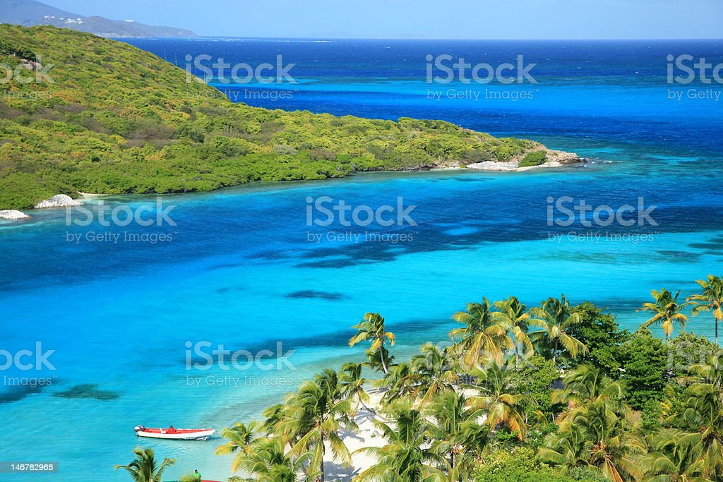 Unspoiled Caribbean Beach stock photo