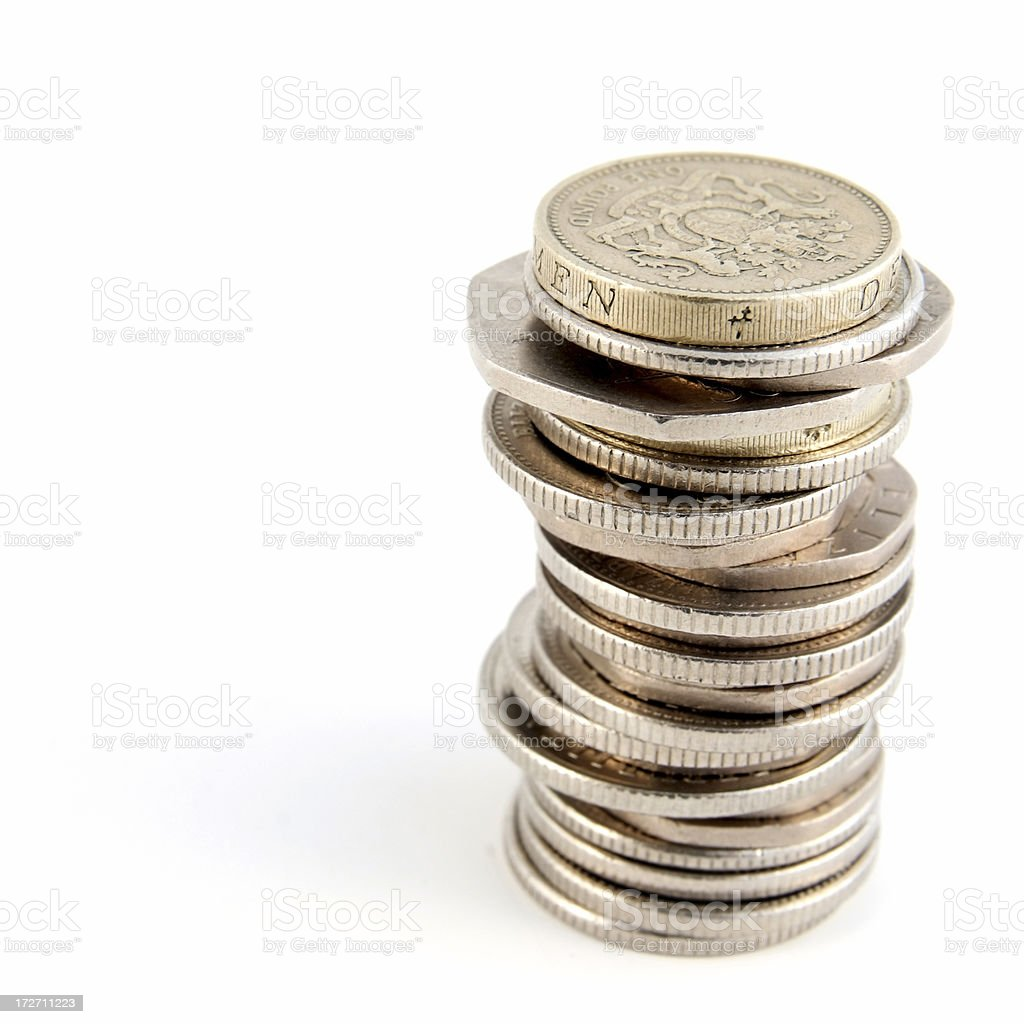 Unstable Tower of Money royalty-free stock photo