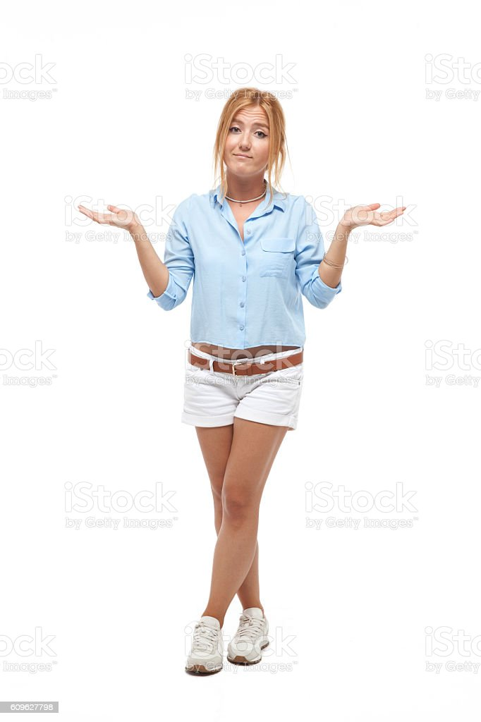 Unstable young girl stock photo