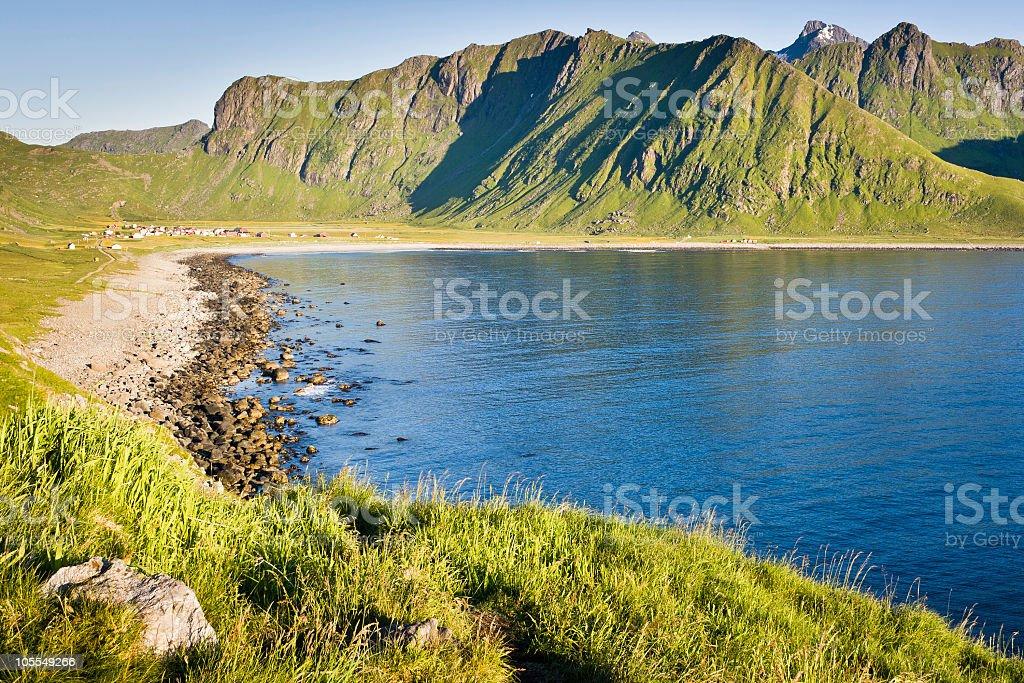 Unstad in Lofoten, Norway. royalty-free stock photo