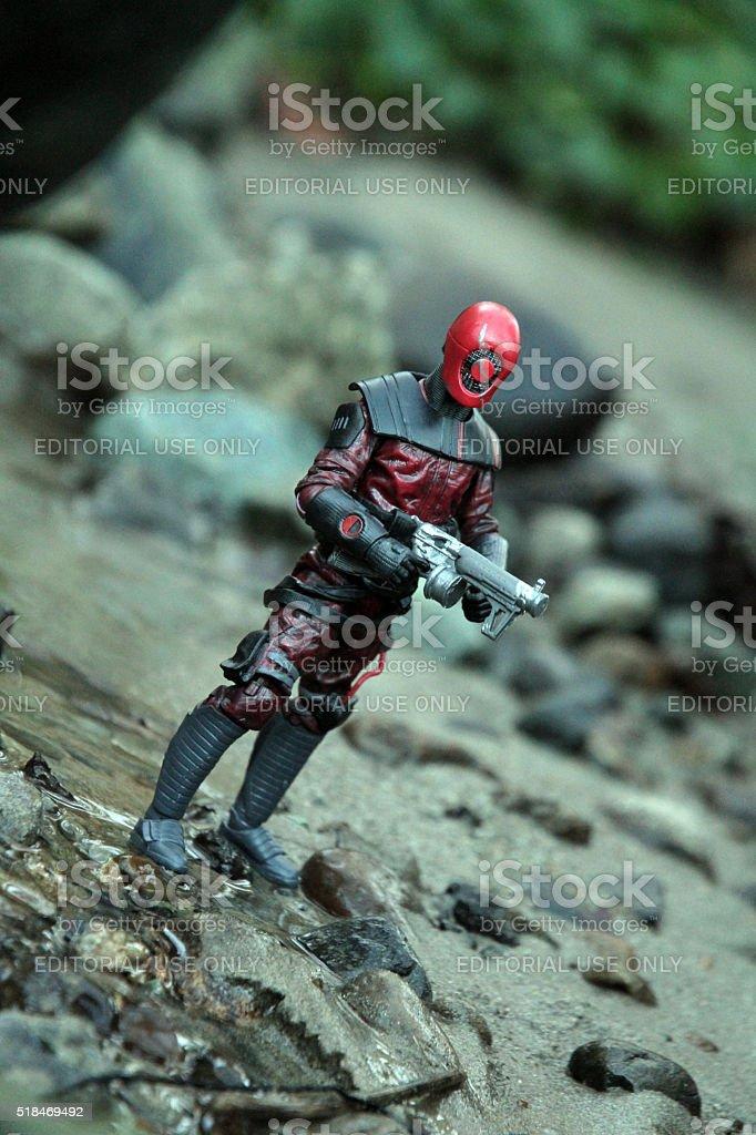 Unstoppable Hunter stock photo