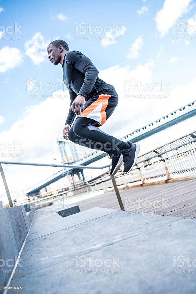 Unstoppable sportsman stock photo