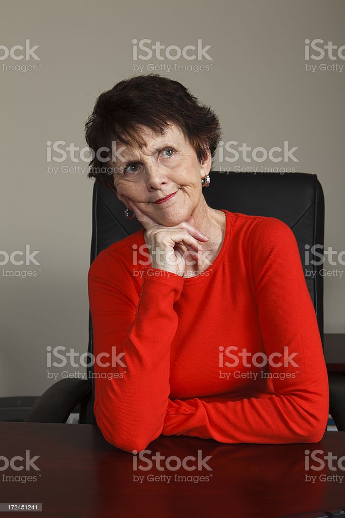 Unsure Businesswoman royalty-free stock photo