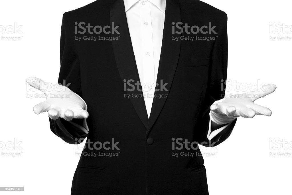 Unsure waiter stock photo