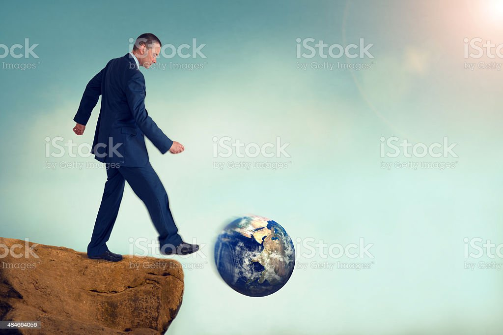 unsustainable business concept global environmental destruction stock photo