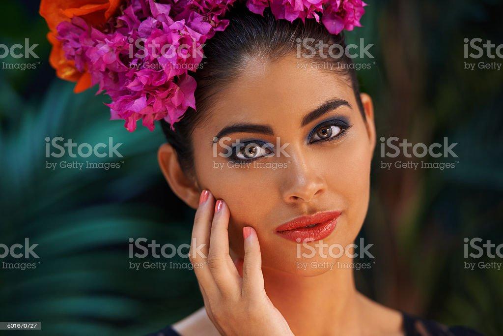 Untamed beauty stock photo