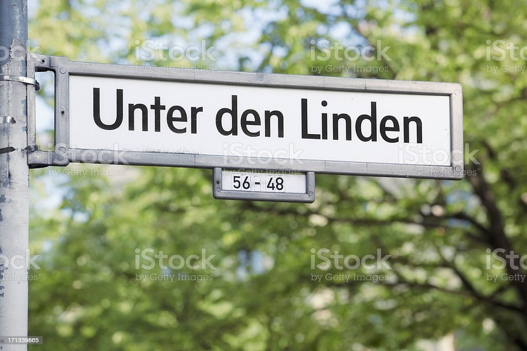 Unter den Linden stock photo