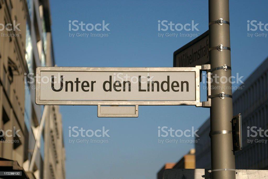 Unter den Linden royalty-free stock photo