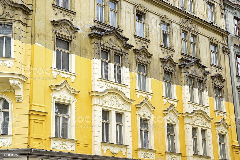Unterminated house restoration royalty-free stock photo