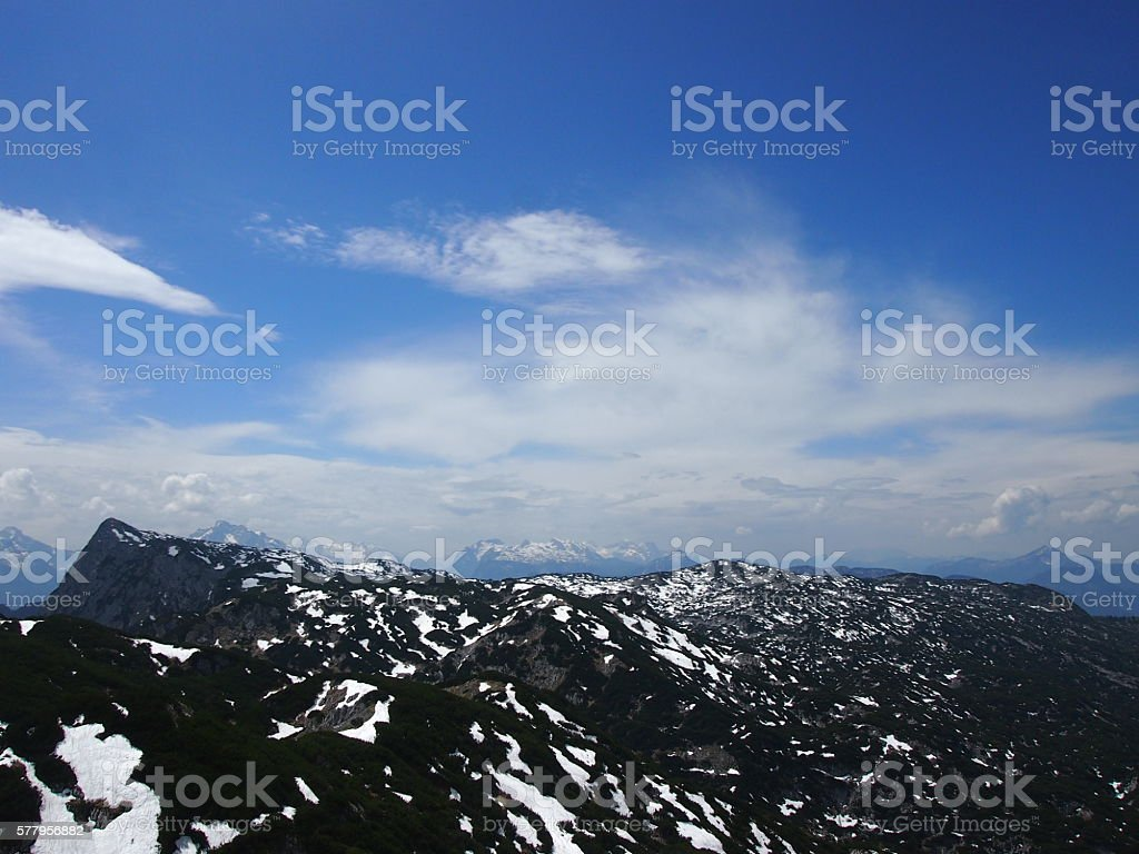 Untersberg Mountain Hike stock photo