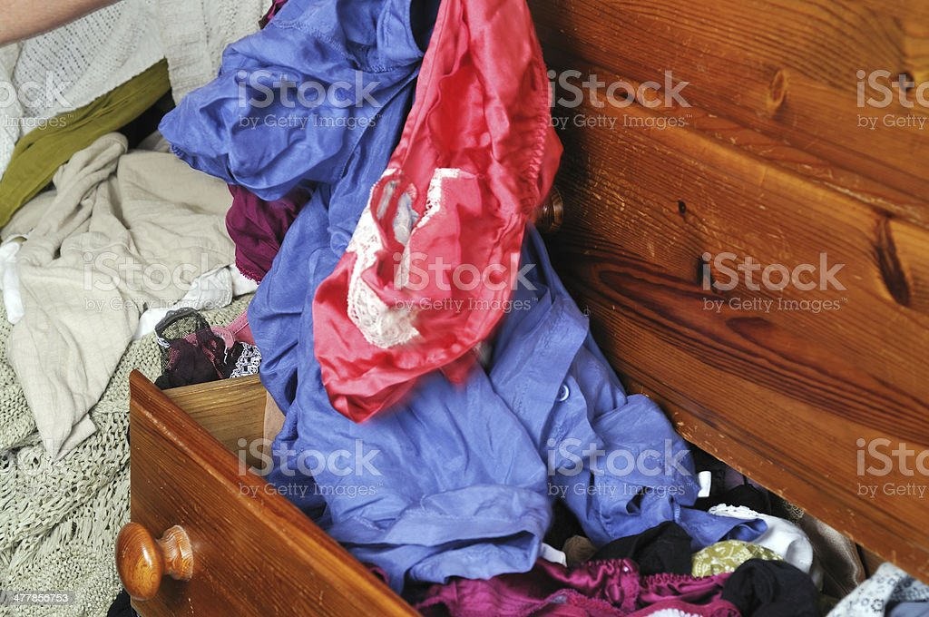 Untidy clothes drawer royalty-free stock photo