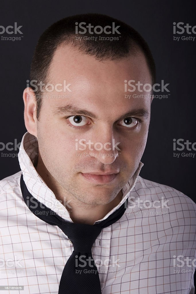 Untidy shirt and tie royalty-free stock photo