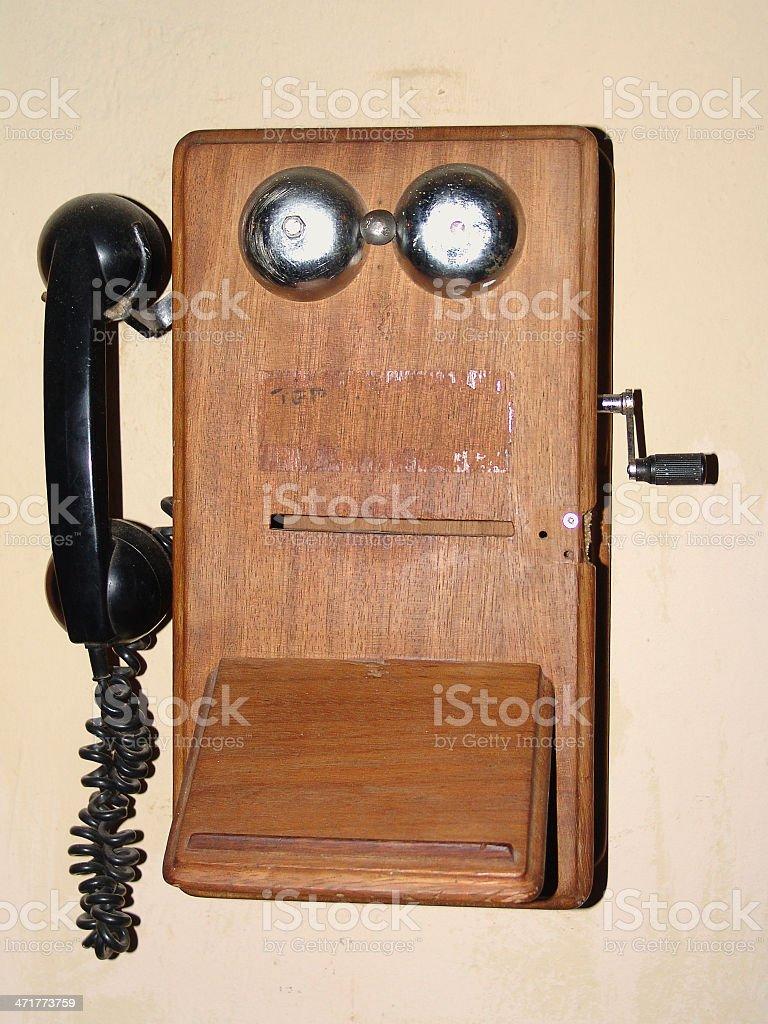 Untique telephone stock photo