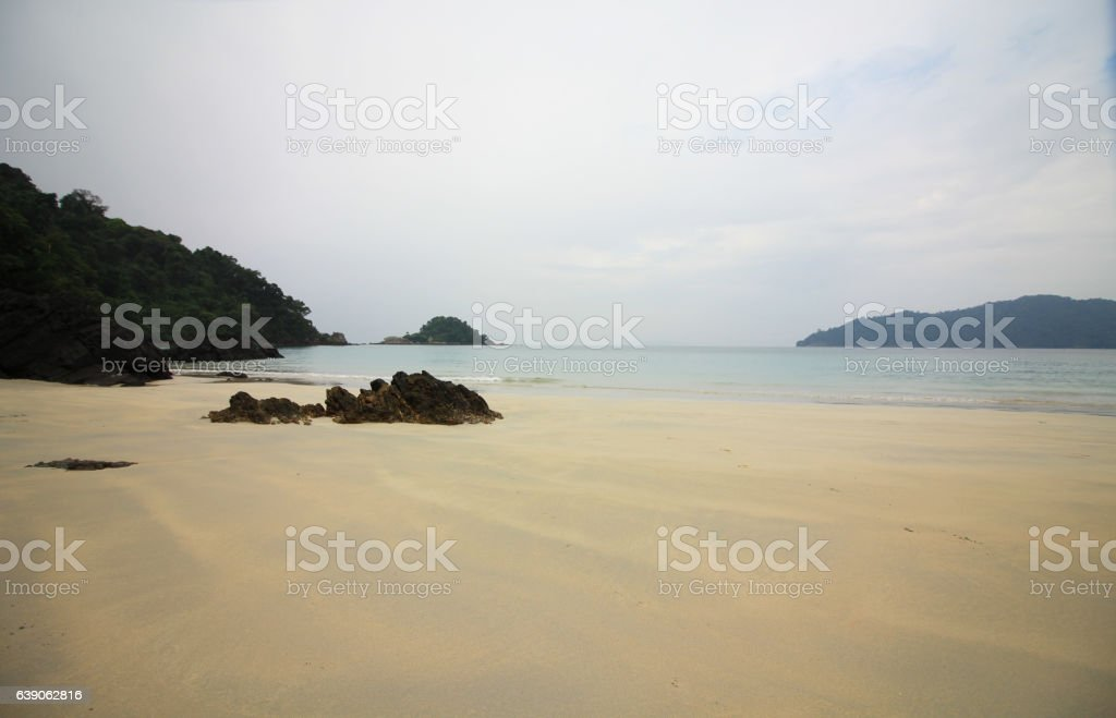 ีีuntouched beautiful beach stock photo