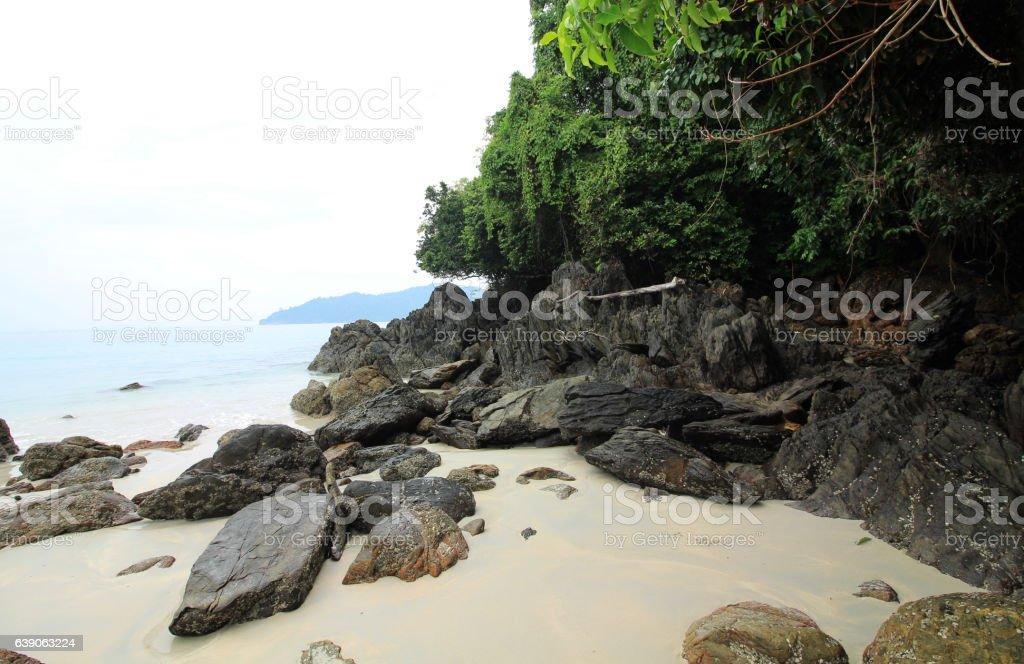 untouched island stock photo