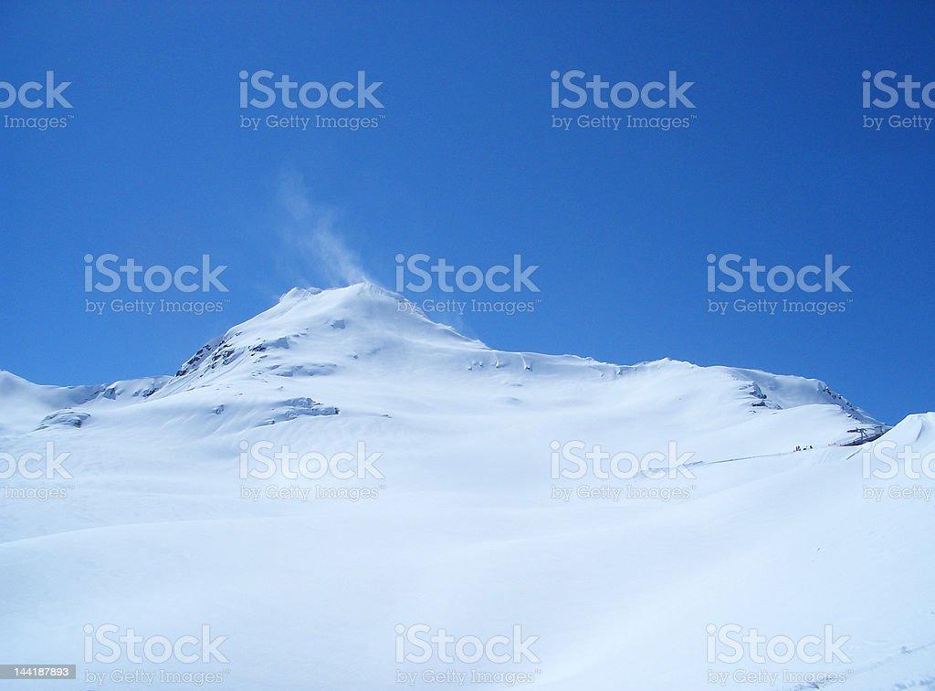 untouched snowy mountain royalty-free stock photo