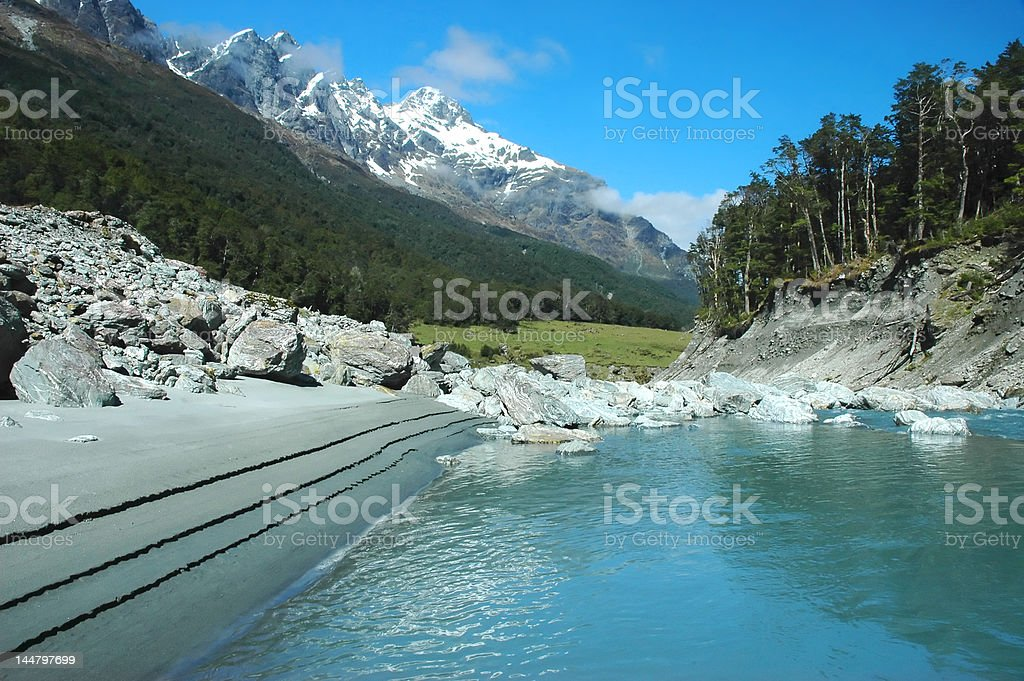 Untouched world - mountain river stock photo