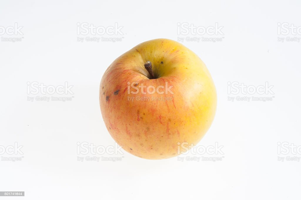 Unbehandelter Apfel stock photo