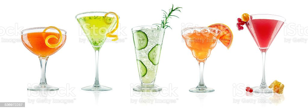 Unusual and Exotic Coctail Collection stock photo