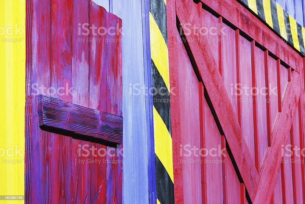 Unusual Barn Building Facade royalty-free stock photo