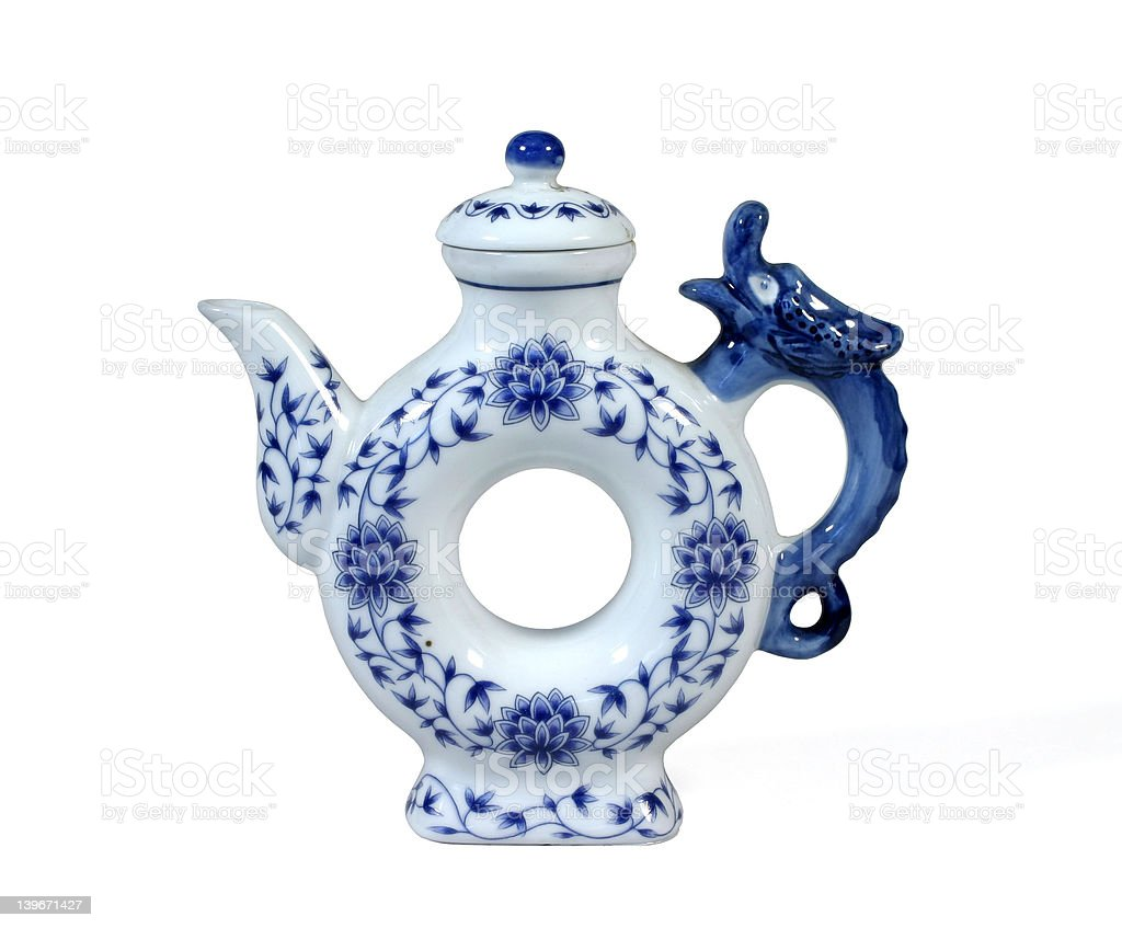 Unusual China teapot royalty-free stock photo