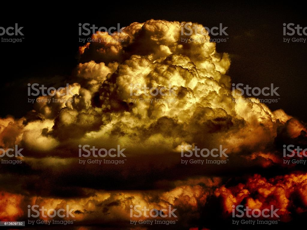 unusual cloud and sky stock photo