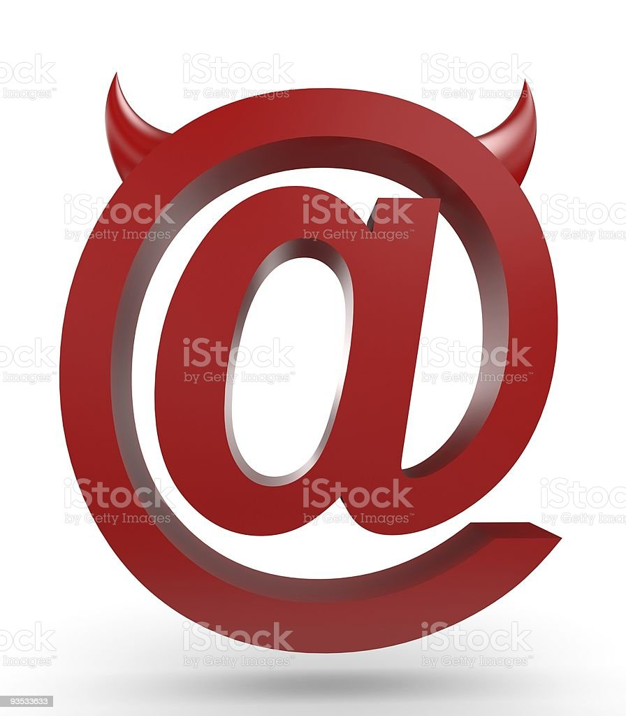 Unusual email sign royalty-free stock vector art
