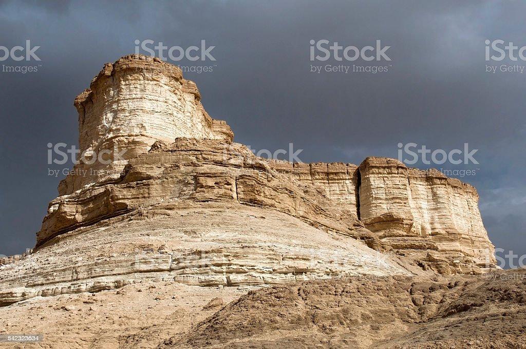 unusual erosion of mountains stock photo