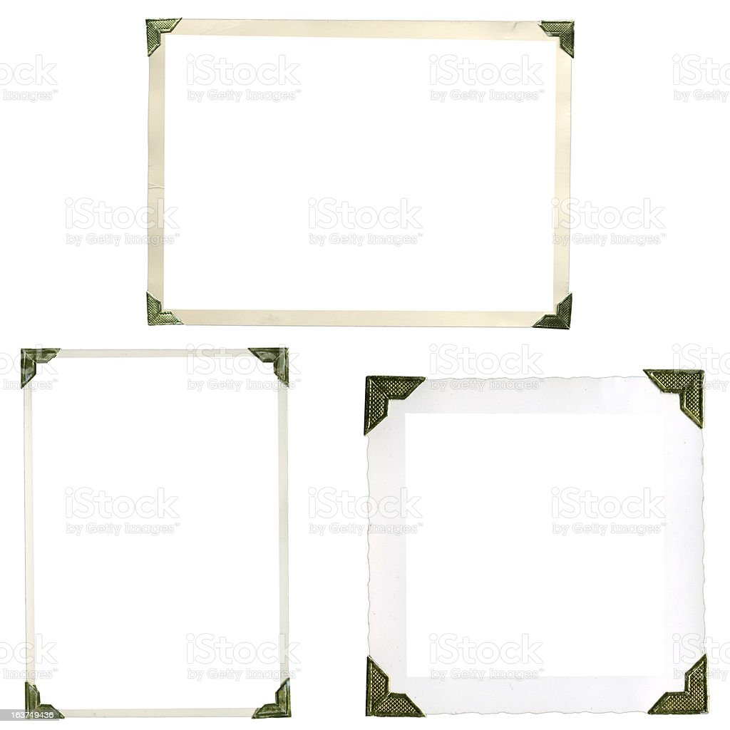 Unusual frames corners from the earlies days of photography royalty-free stock photo
