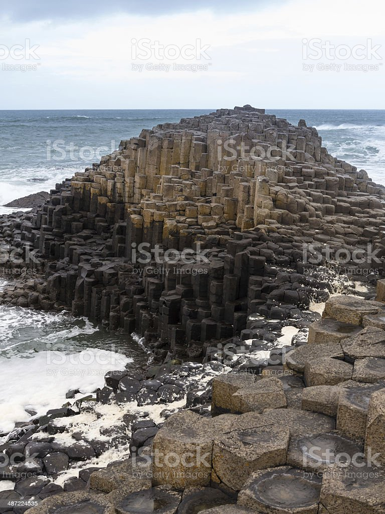 Unusual geology at Giants Causeway Ireland royalty-free stock photo