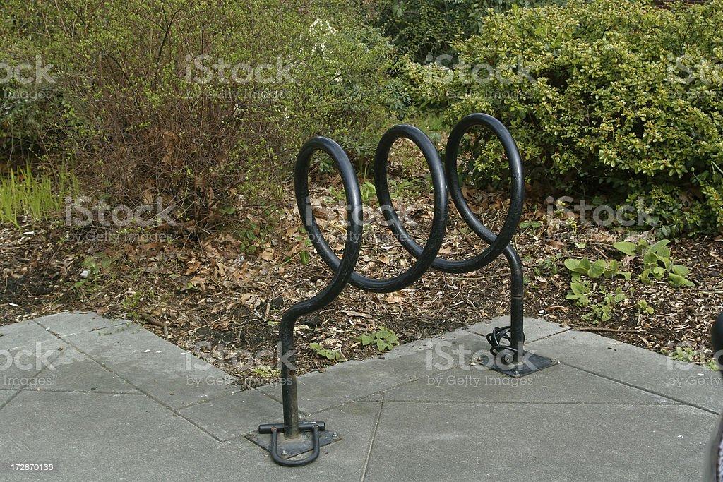 Unusual Metal Bike Rack royalty-free stock photo