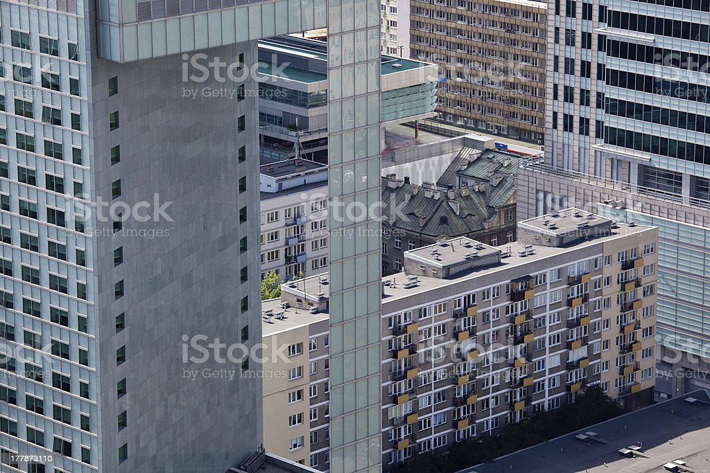 Unusual mix of old and new building royalty-free stock photo