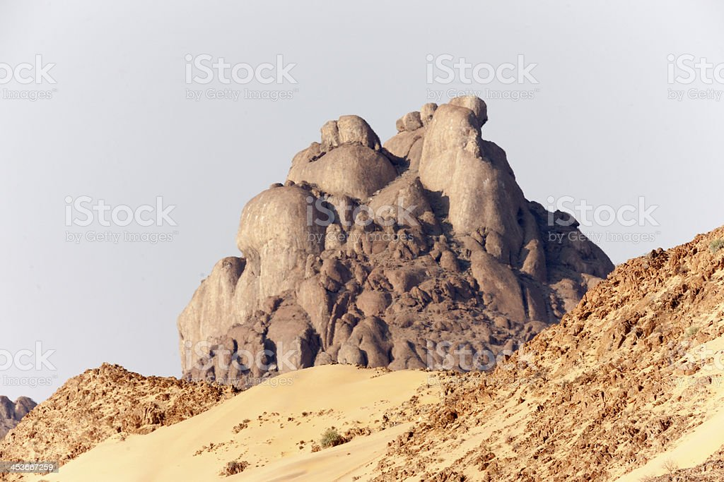 Unusual Rocks through Desert Thermals stock photo