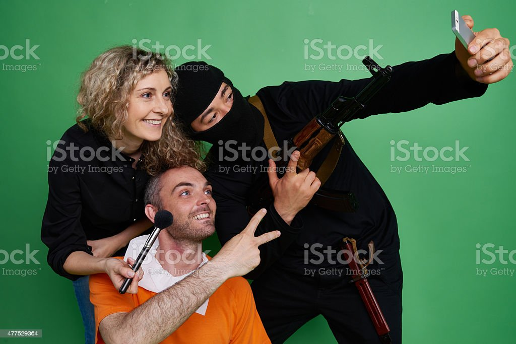 Unusual team stock photo