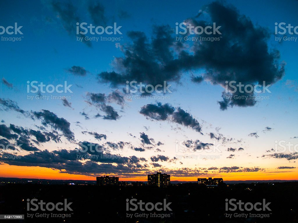 Unusual Weather Clouds New Jersey stock photo
