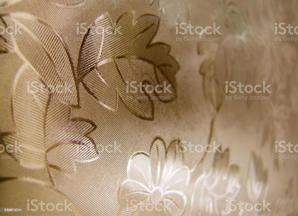 Unusual window foil background brown sepia stock photo