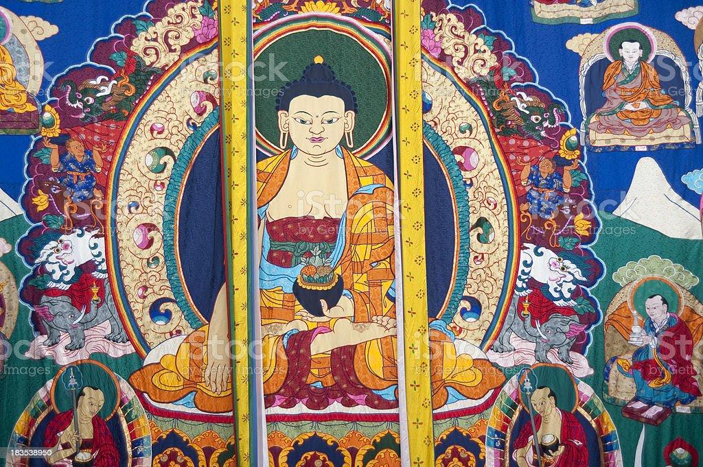Unveiled Thongdrel at Trashigang Tsechu, Bhutan stock photo