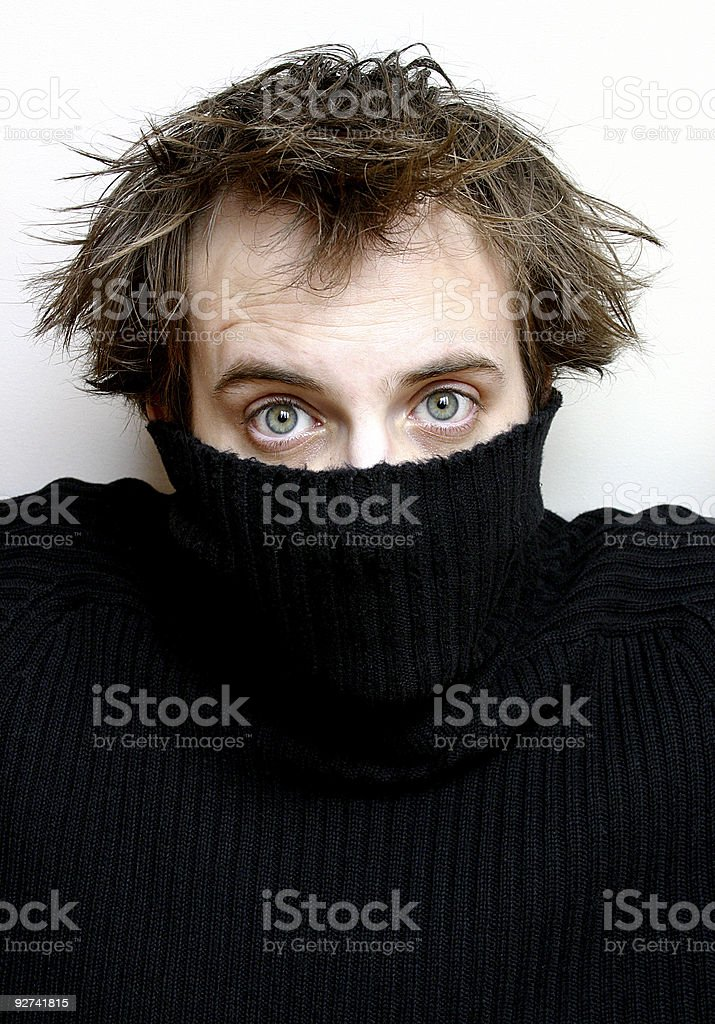 Unveiling Man royalty-free stock photo