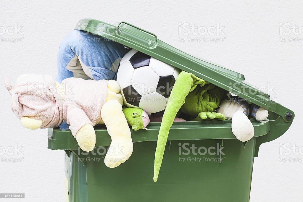 Unwanted toys stock photo