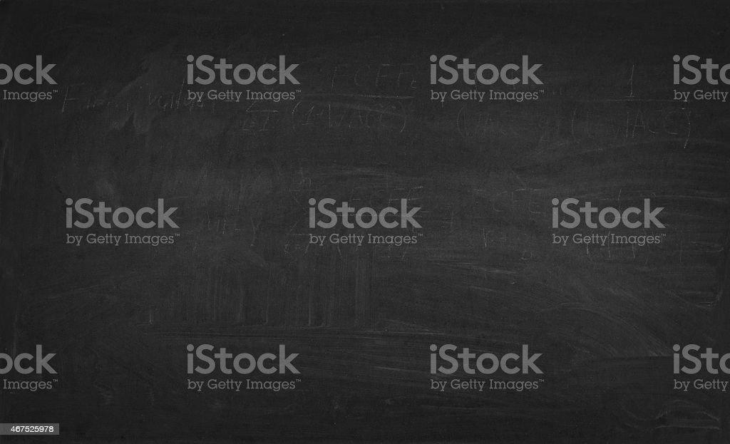close up of an empty school black blackboard