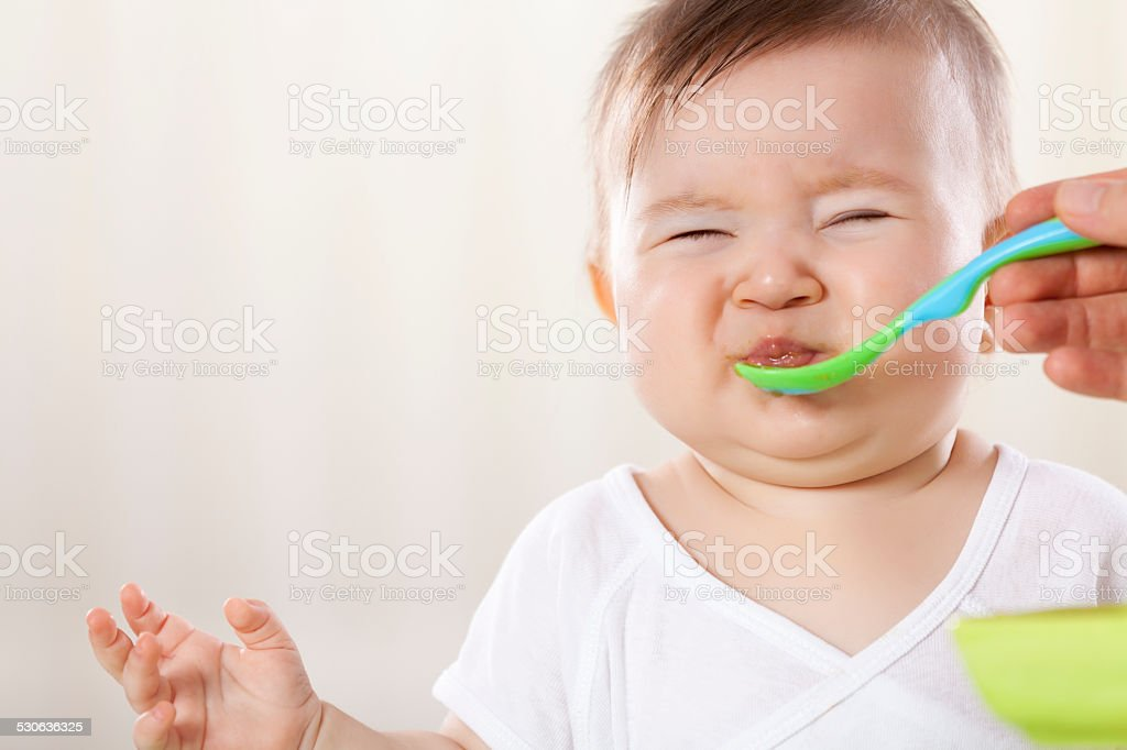 Unwilling Feeding stock photo