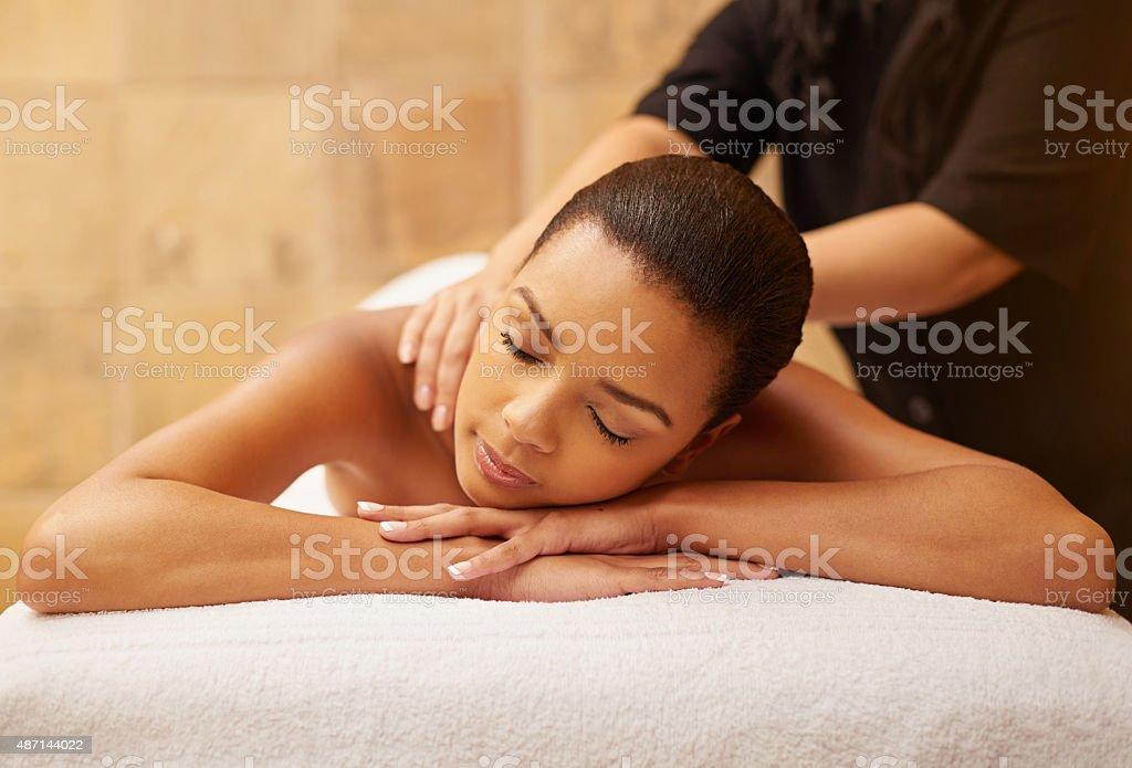 Unwinding at the beauty spa stock photo