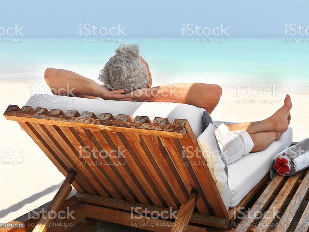 Unwinding in the summer sun royalty-free stock photo
