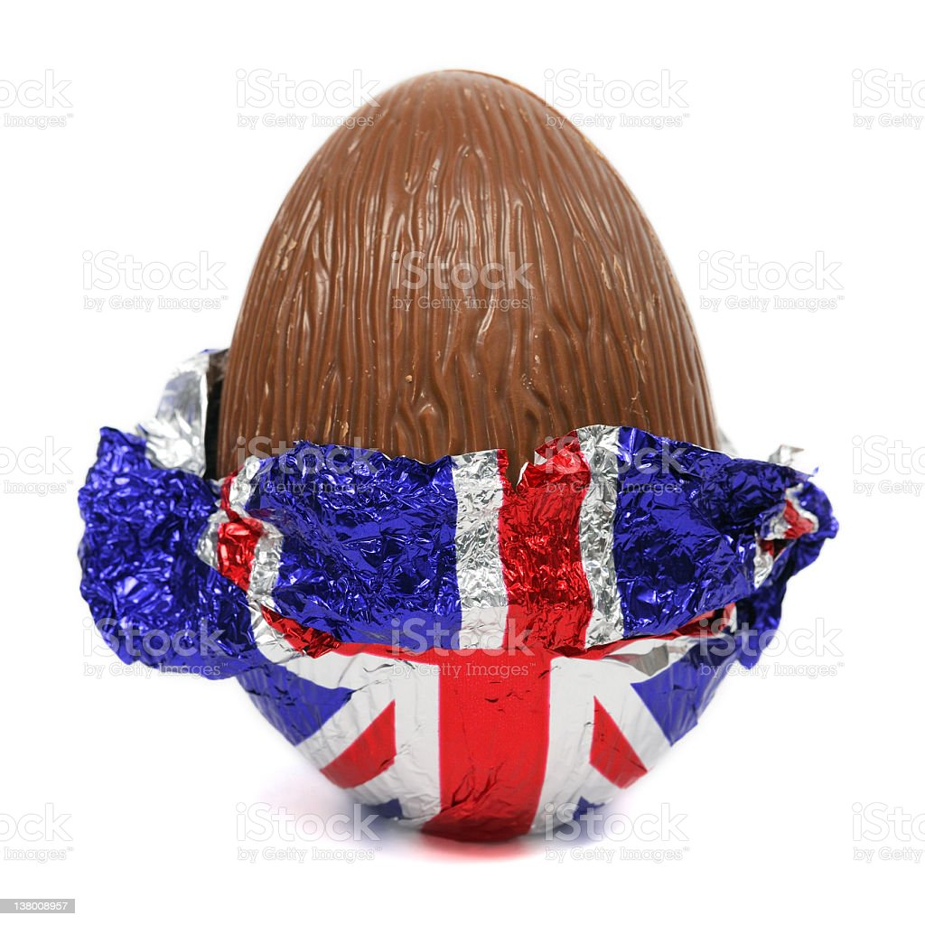 Unwrapped Chocolate Easter Egg royalty-free stock photo