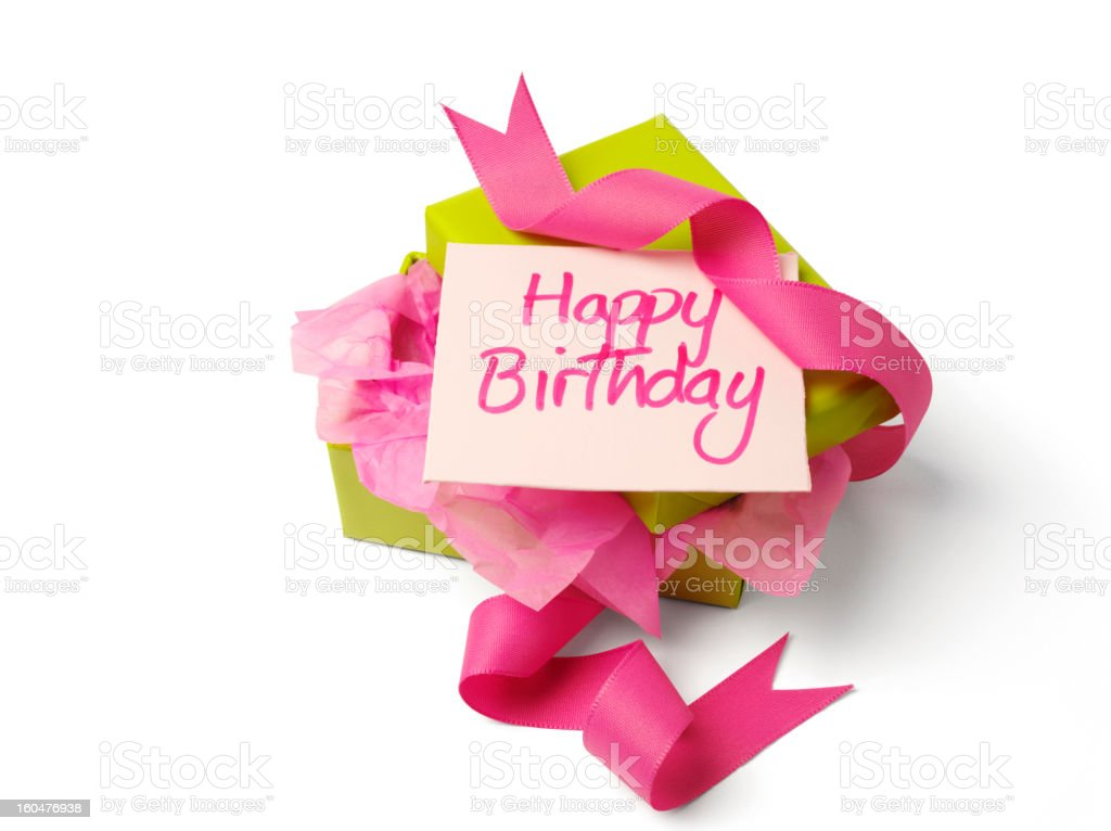 Unwrapped Gift for a Happy Birhday royalty-free stock photo