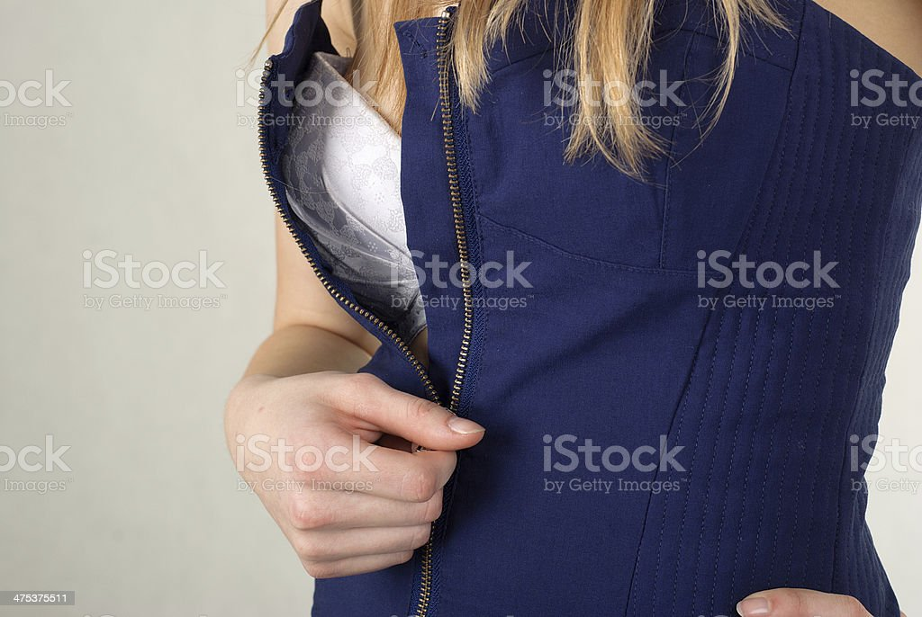 Unzipping foto de stock libre de derechos